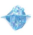 glacier iceberg floating on sea water waves vector image