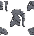 gladiator helmet seamless pattern ancient greece vector image