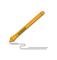 graphic design instrument stylus pen for vector image vector image