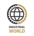 industrial gear world simple symbol vector image vector image