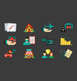 insurance icons set protection from private house vector image