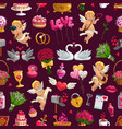 love symbols seamless pattern valentines day vector image