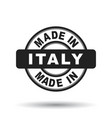 made in italy black stamp on white background vector image vector image
