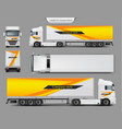 mock up template brand design for truck vector image vector image