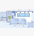 modern apartments comfortable interior flat vector image