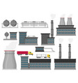 modern industrial flat buildings set vector image vector image