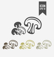 mushrooms champignon isolated icon vector image