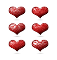 Ornamental Hearts Set for Valentines Day vector image vector image