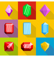ornamentation icons set flat style vector image vector image
