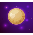 Pluto planet space objects in cartoon style vector image vector image