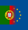 portugal national flag with a star circle of eu vector image vector image
