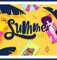 poster summer time vector image
