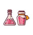 potion magic bottles fantasy icon vector image vector image