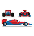 red blue racing car vector image