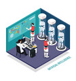robots droids isometric composition vector image