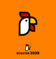 rooster year rooster emblem vector image vector image