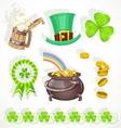 Saint Patricks day elements set for design vector image vector image