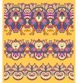 seamless ethnic yellow paisley stripe pattern vector image vector image