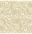 seamless flower paisley lace pattern on beige vector image vector image