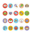 SEO and Marketing Icons 3 vector image vector image