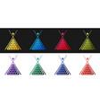 set billiard cue and balls in a rack triangle icon vector image vector image