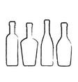 set of wine bottles silhouette for design on vector image vector image