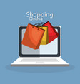 shopping online with laptop computer vector image