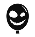smiley scary ballon icon simple style vector image