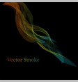 smoke multicolored on blackground vector image
