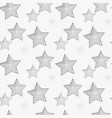star seamless pattern white and grey retro vector image