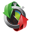 stopwatch with colorful arrows vector image vector image