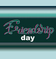 text friendship day with glitch effect vector image vector image