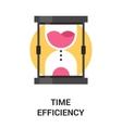time efficiency icon concept vector image vector image