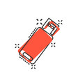 usb drive icon in comic style flash disk cartoon vector image