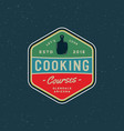 vintage cooking classes logo retro styled vector image