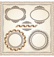 vintage frames at grunge background with retro vector image vector image