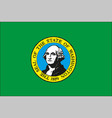 washington us state flag vector image vector image