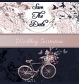 wedding invitation or save the date card vector image