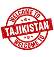 welcome to tajikistan red stamp vector image vector image