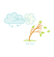 Wind vector image vector image