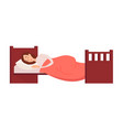 woman sleeping or dreaming having a rest lying on vector image