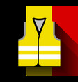 yellow vests as a symbol of protests in belgium vector image vector image