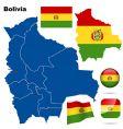 bolivia set vector image