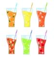 Fruit Lemonades Set vector image
