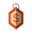 price commerce tag isolated icon vector image