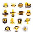 craft beer hand drawn logos vector image