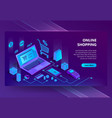 3d isometric e-commerce site online store vector image