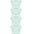 abstract green ikat vertical border vector image