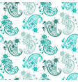 abstract ornament seamless pattern with different vector image vector image