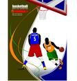 al 0907 basketball 01 vector image vector image